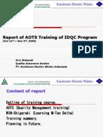 AOTS Training Report Presentation - IDQC - Erry W
