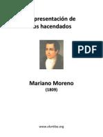 MORENO MARIANO Representacion de Los Hacendados