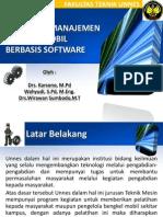 Pelatihan Manajemen Bengkel Mobil Berbasis Software