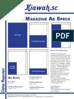 Kiawah magazine Ad Specs