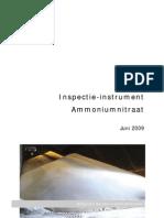 Ammoniumnitraat (Bouwstof Bij Kunstmest) Inspectie-Instrument - Belgische Seveso-Inspectiediensten (2009.06)