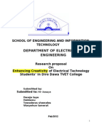 enhancing creativity of ddtvtc traine wasihun e.doc research