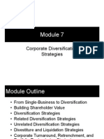Module 7 - Corporate Diversification Strategies