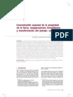 Concentración espacial de la propiedad de la tierra, megaproyectos inmobiliarios y transformación del paisaje