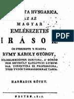 Rumy Károly György - Magyar emlékezetes irások 3.kötet 1817.