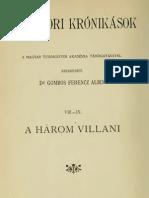 Rácz Miklós - A három Villani krónikája (Középkori krónikások VIII-IX.) 1909.