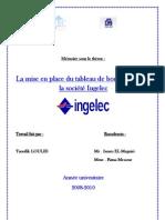 69971210 La Mise en Place Du Tableau de Bord Au Sein de La Societe Ingelec