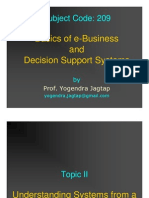 Topic II - Understanding Systems From a Business View Point