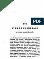 Waltherr László Imre - A magyarországi gyökeres nemzetségekről 1841.