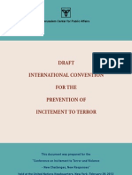 Draft International Convention for the Prevention of Incitement