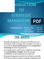 1 Introduction to Strategic Management