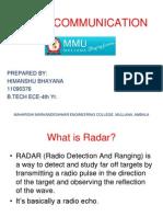Radar Presentation