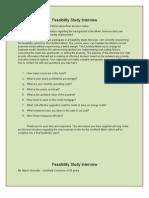 Feasibility Interviews