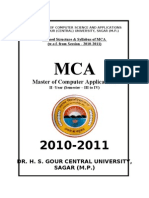 MCA Syllabus 2009 Centre University Onward