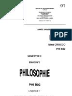 cours philo logique première partie