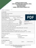 Formulir Pahat 2013 (Sekretaris, Bendahara, Koor Divisi)