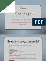Blender 3 d Intro 2013