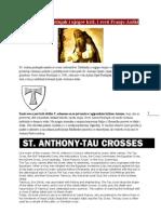 Sveti Antun pustinjak i njegov križ i sveti Franjo Asiški