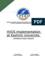 DPR for HVDS at Kashmir University