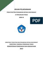 Panduan Pelaksanaan Penelitian Dan PPM Edisi -IX-2013