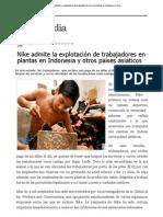Nike admite la explotación de trabajadores en sus plantas en Indonesia y otros ..