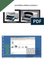 Guia de instalação HP990cxi e HP895cxi no Windows 7
