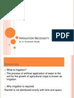 Irrigation Necessity