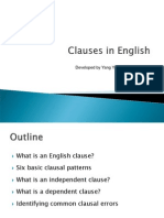 Clauses in English