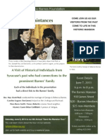 June 7th Reception Poster 2013