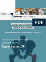 Analysis Of Stryker Rejuvenate Recall From Hip Defect Lawyers