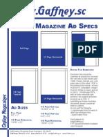 Gaffney Magazine Ad Specs