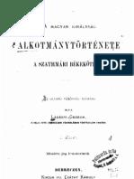 Ladányi Gedeon - A magyar királyság alkotmánytörténete a szathmári békekötésig, 1. kötet 1871.