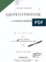 Ladányi Gedeon - A magyar királyság alkotmánytörténete a szathmári békekötésig, 2. kötet 1871.