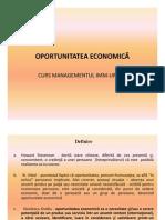 Oportunitatea Economica- Curs IMM