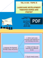 Language Development Through Songs and Poetry