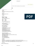 HTML Quick List