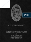 Scientific Thought as a Planetary Phenomenon (V. I. Vernadsky)