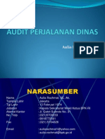 Audit Perjalanan Dinas