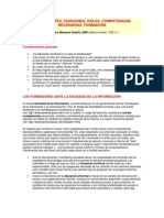 LOS DOCENTES. Funciones, roles, competencias necesarias, formación