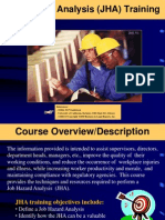 Job Hazard Analysis Training 2011