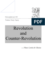 Revolution and Counter-revolution Written by Plinio Corrêa de Oliveira