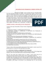 DIREITO PENAL III SEMINÁRIO CRIMES CONTRA A ORGANIZAÇÃO DO TRABALHO E CRIMES CONTRA A FÉ PÚBLICA