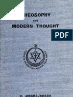 Jinarajadasa, C - Theosophy and Modern Thought
