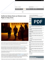 California Seizes Guns as Owners Lose Right to Keep Arms