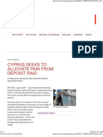 Cyprus Seeks to Alleviate Pain From Deposit Raid