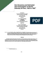 Population Dynamics & Estimated Anchoveta Consumption of Bonito