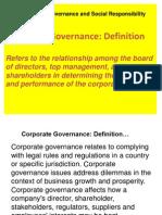 1.2 Governance and Social Responsibility