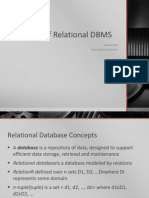 Overview of Relational DBMS