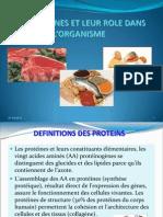 Role Des Proteines