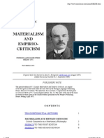 Materialism and Empirio-Criticism